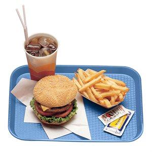 "FAST FOOD TRAY 10""X14"" BLUE"