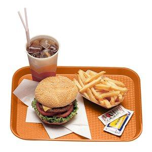 "FAST FOOD TRAY 12""X16"" ORANGE"