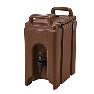 CAMTAINER- 2.5 GAL -PLASTIC BROWN