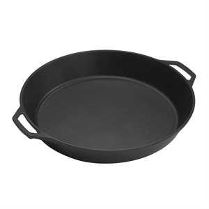 "LODGE SKILLET 17"" ROUND X 2.75""D WITH HANDLES"
