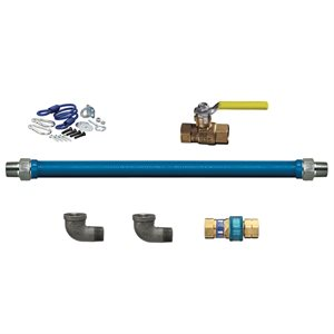 "GAS CONNECTOR KIT W / QUICK-DISCONNECT 1 / 2""X48"""