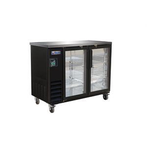 "IKON BEER COOLER 2 GLASS DOORS 49""W"