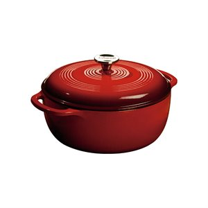 LODGE 6-QUART RED DUTCH OVEN