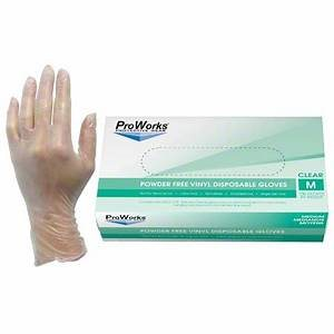VINYL DISPOSABLE GLOVE POWDER FREE MEDIUM (100 / PK)
