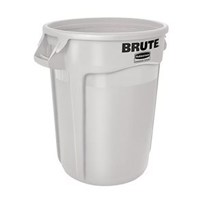 BRUTE 32 GALLON GARBAGE BIN WHITE