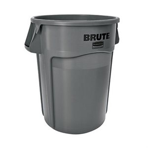 BRUTE GARBAGE BIN 44 GALLON GREY