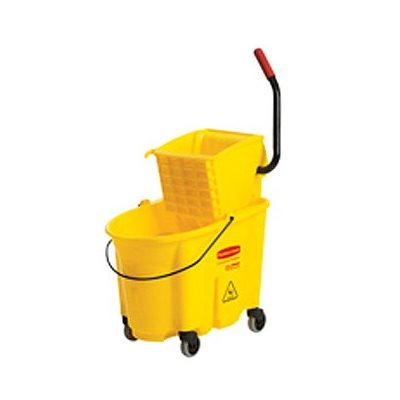 MOP BUCKET AND WRINGER YELLOW 35 QT SIDE PRESS