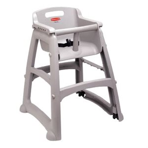 HIGH CHAIR PLATINUM WITH CASTERS
