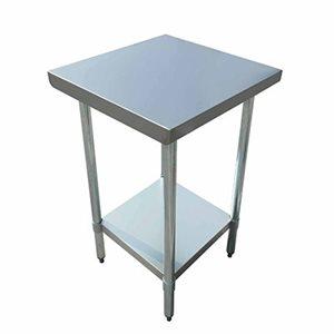 "S / S WORK TABLE 24""x24"" W / GALVANIZED UNDERSHELF AND LEGS"
