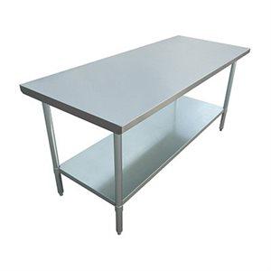 "S / S WORK TABLE 24""x72"" W / GALVANIZED UNDERSHELF AND LEGS"