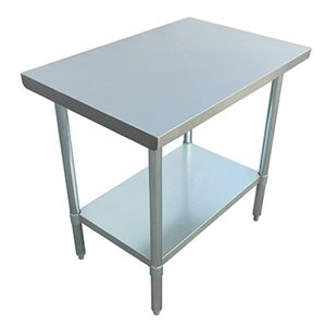 "S / S WORK TABLE 30""x36"" W / GALVANIZED UNDERSHELF AND LEGS"