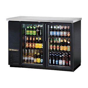 "TRUE BEER COOLER 2 GLASS DOORS 48""W"