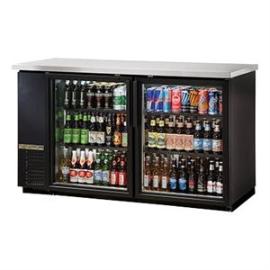 "TRUE BEER COOLER 2 GLASS DOORS 60""W"