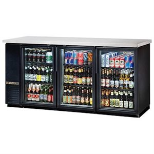 "TRUE BEER COOLER 3 GLASS DOORS 72""W"