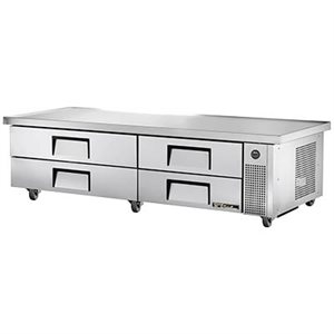 "TRUE CHEF BASE 84"" 110V WITH S / S DRAWERS"