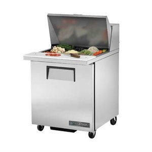 "TRUE SALAD UNIT 27"" 110V S / S DOOR, 12 PAN"