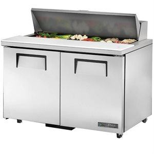 "TRUE SALAD UNIT 48"", 2 DOOR S / S, 12 PANS"