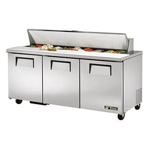 "TRUE SALAD UNIT 72"" 110V S / S DOORS, 30 PANS"