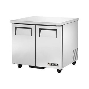 "TRUE UNDERCOUNTER FREEZER 36"" - 2 S / S DOORS"