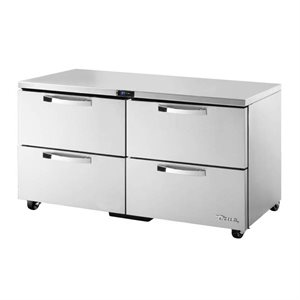 "TRUE UNDERCOUNTER REFRIGERATOR 60"" WITH 4 DRAWERS"