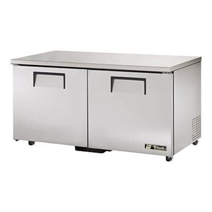 "TRUE UNDERCOUNTER FREEZER 60"" - 2 S / S DOORS"