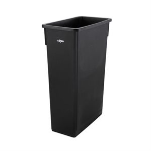 TRASH CAN SLENDER 23 GALLON BLACK