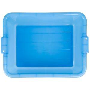 """BUS BIN 21-3 / 4""""X15-1 / 2""""X7""""H BLUE"""