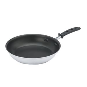 """ALUMINUM FRYING PAN 12"""" ANTI-STICK STEELCOAT3 SILICONE HNDL"""