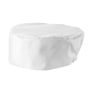 VENTILATED PILLBOX HAT WHITE