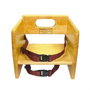 WOODEN BOOSTER SEAT NATURAL FINISH
