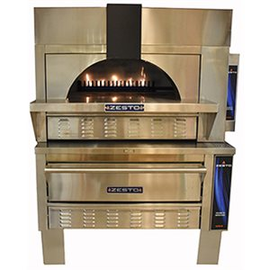 """ZESTO OPEN DECK OVEN 48""""X36"""" INT. STACKED WITH 312 DECK OVEN"""