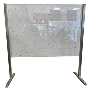 ZESTO COUNTERTOP PLEXI STAND WITH S / S BRACKETS